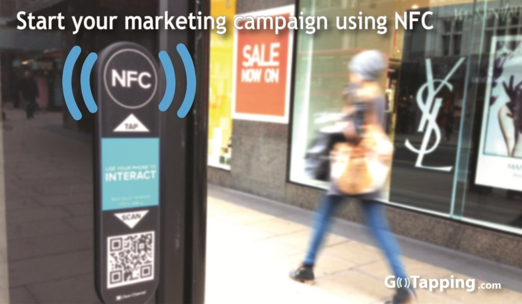 Start your marketing campaign using NFC.