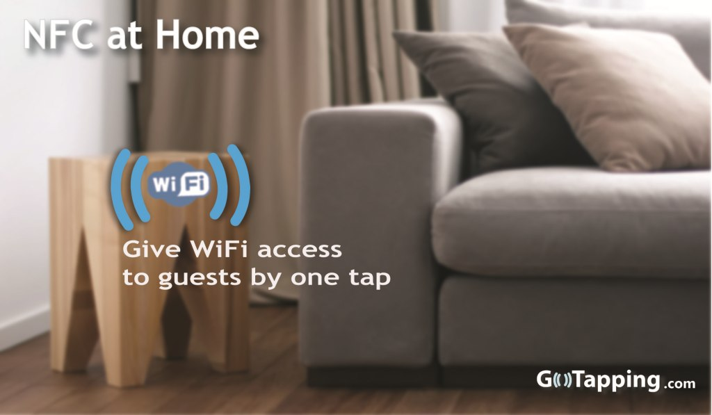 Connect to your WiFi network using NFC tag.